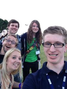 BBC Radio Lincolnshire Jono Brine Selfie with Toucan Uke