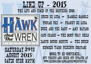 Hawk And The Wren 2015 Line Up